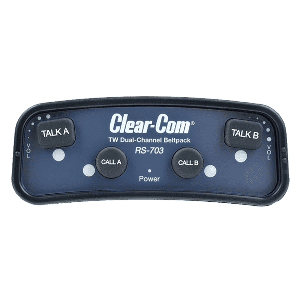 Clear-Com, RS-703, 2-channel Wired Beltpack Intercom System