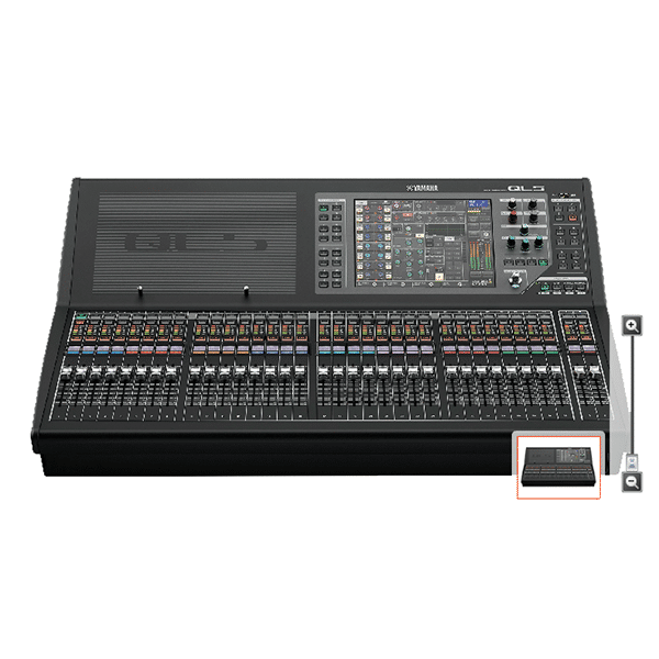 Yamaha, QL5, Console de mixage numérique comprenant 64 canaux