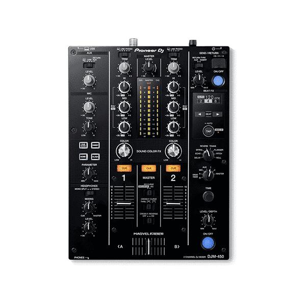Pioneer, DJM-450, Console de mixage à deux canaux, 94 dB