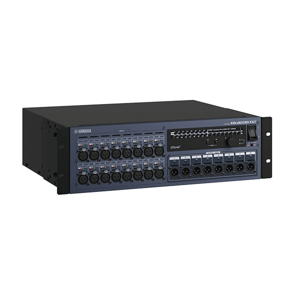 Yamaha, Rio1608-D2, 16 x 8 I/O Rack for Audio Mixing Console
