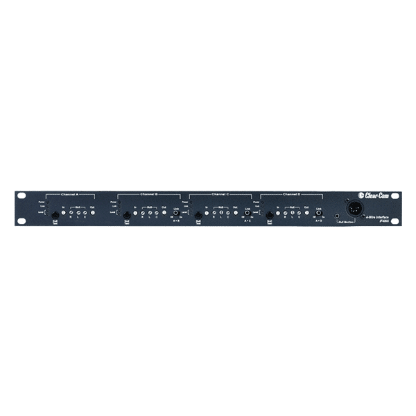Clear-Com, IF4W4, 4-channel Rack Mount Camera Interface